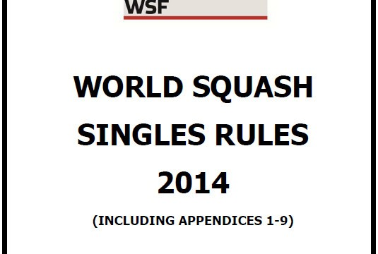 World Squash Singles Rules 2014